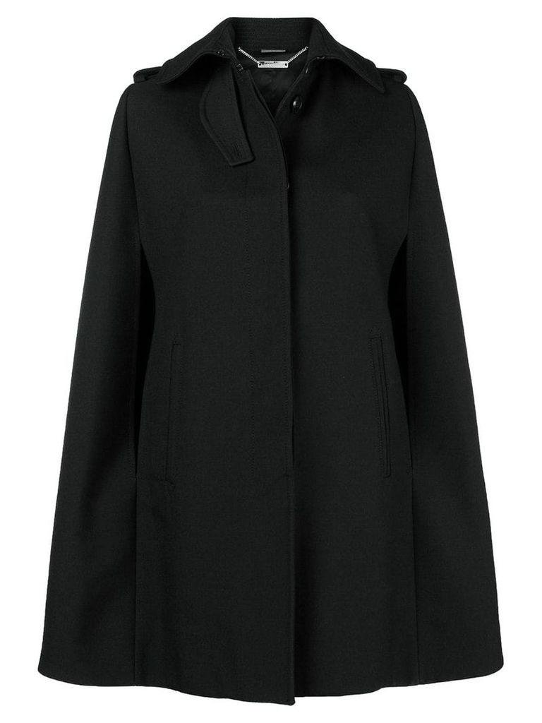 Alexander McQueen cutaway collar cape - Black