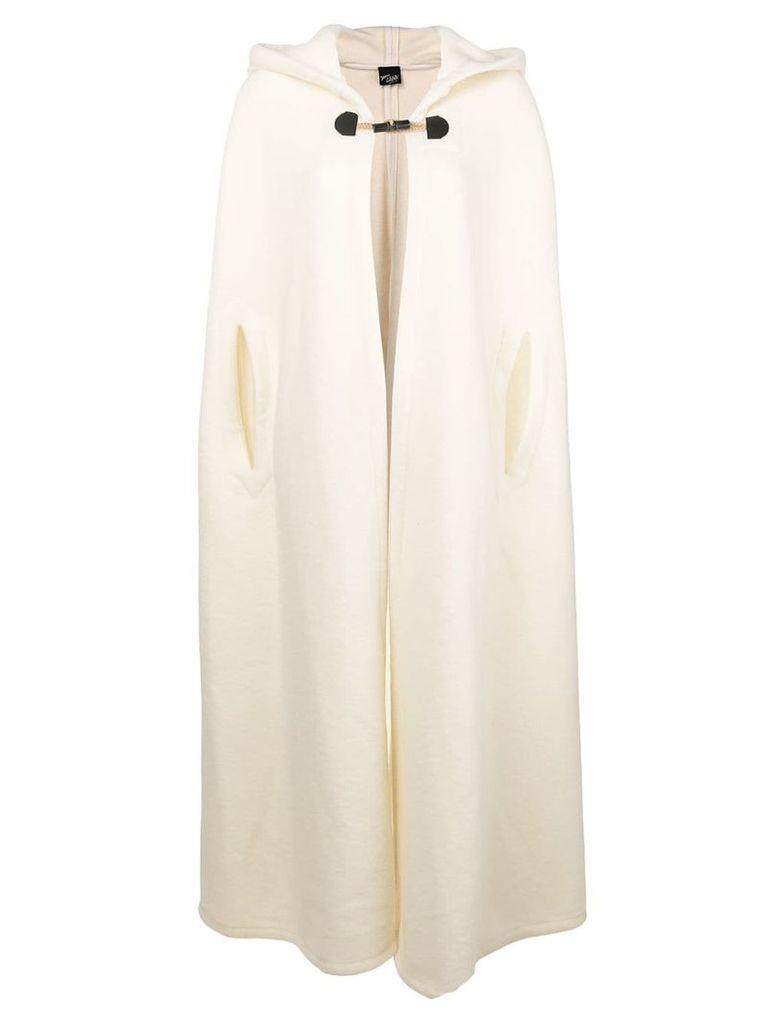 Michel Klein long open cape - White