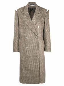 Maison Margiela detached sleeve coat - Brown