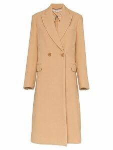 Stella McCartney double breasted wool coat - Brown