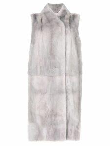 N.Peal longline gilet coat - Grey