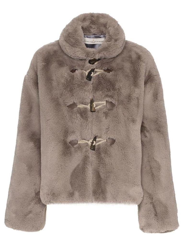 Golden Goose Deluxe Brand Faux fur satin lined jacket - Grey