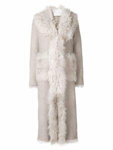 Giada Benincasa long shearling coat - Grey
