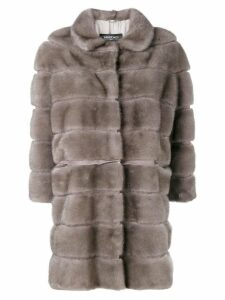 Simonetta Ravizza straight fit fur coat - Grey