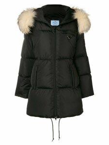 Prada padded fur parka - Black