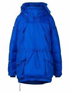 Maison Margiela oversized padded coat - Blue