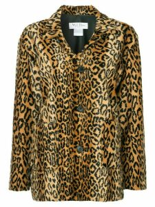 We11done leopard faux fur jacket - Brown