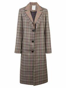 Monse plaid single breasted coat - Multicolour