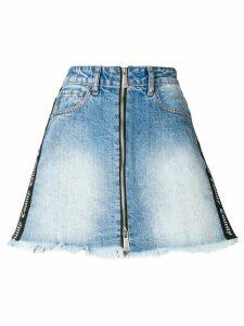 Marcelo Burlon County Of Milan Short denim skirt - Blue