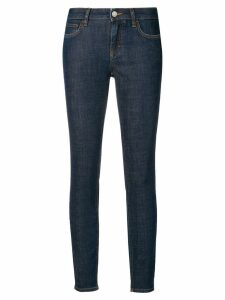 Dolce & Gabbana rear-slogan skinny-fit jeans - Blue