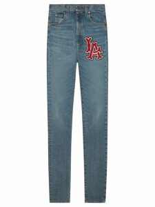 Gucci Skinny denim trousers with LA Angels™ patch - Blue