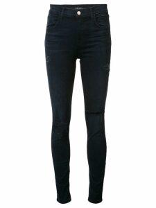 J Brand mid-rise distressed skinny jeans - Blue