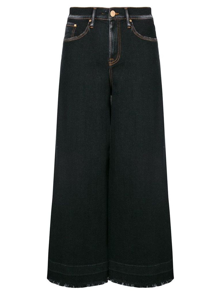 Don't Cry cropped wide leg jeans - Blue