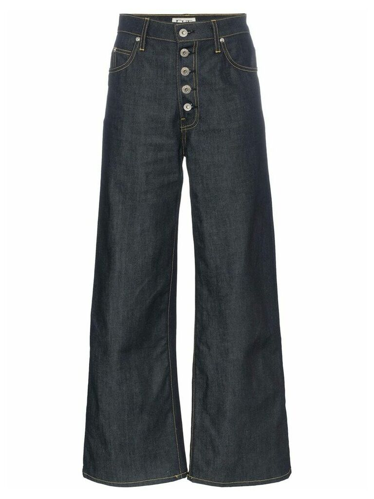 Eve Denim Charlotte High-Waist Wide Leg Jeans - Blue