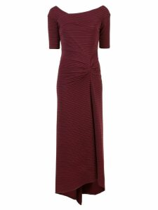 Tadashi Shoji long ribbed evening dress - Red