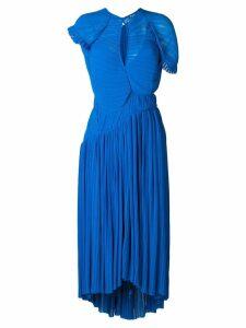 Preen By Thornton Bregazzi Milly flared dress - Blue
