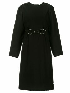 Ports 1961 cut-out flared dress - Black