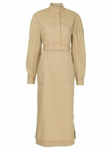 Rosetta Getty concealed front dress - Brown