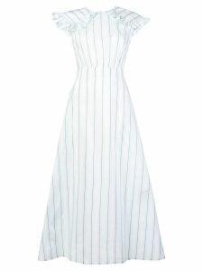 Calvin Klein 205W39nyc striped pioneer dress - White