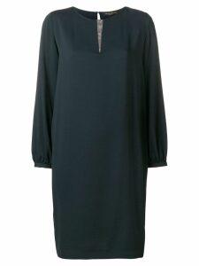 Fabiana Filippi rhinestone detail shift dress - Black
