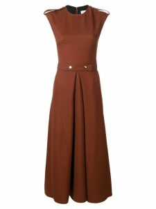 Victoria Beckham belted midi dress - Brown
