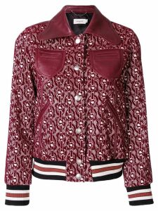 Coach signature chain link jacket - Red