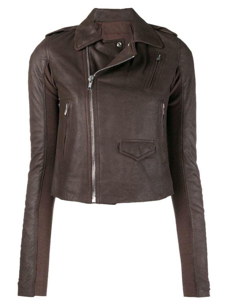 Rick Owens Stooges biker jacket - Brown