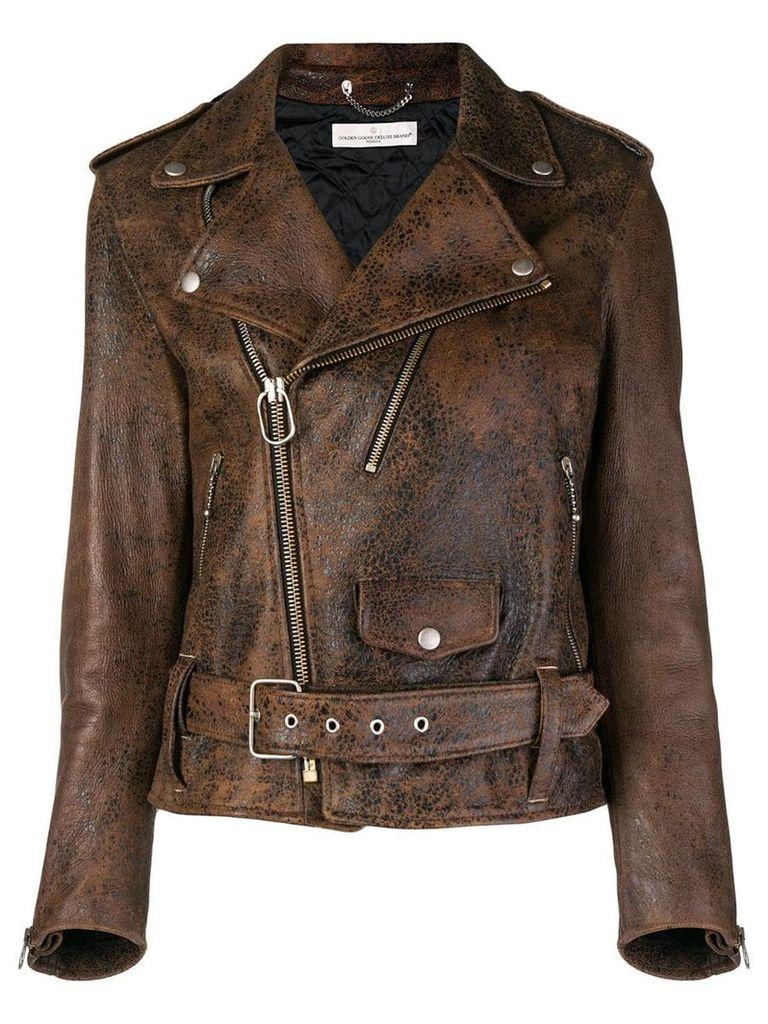 Golden Goose Deluxe Brand biker jacket - Brown