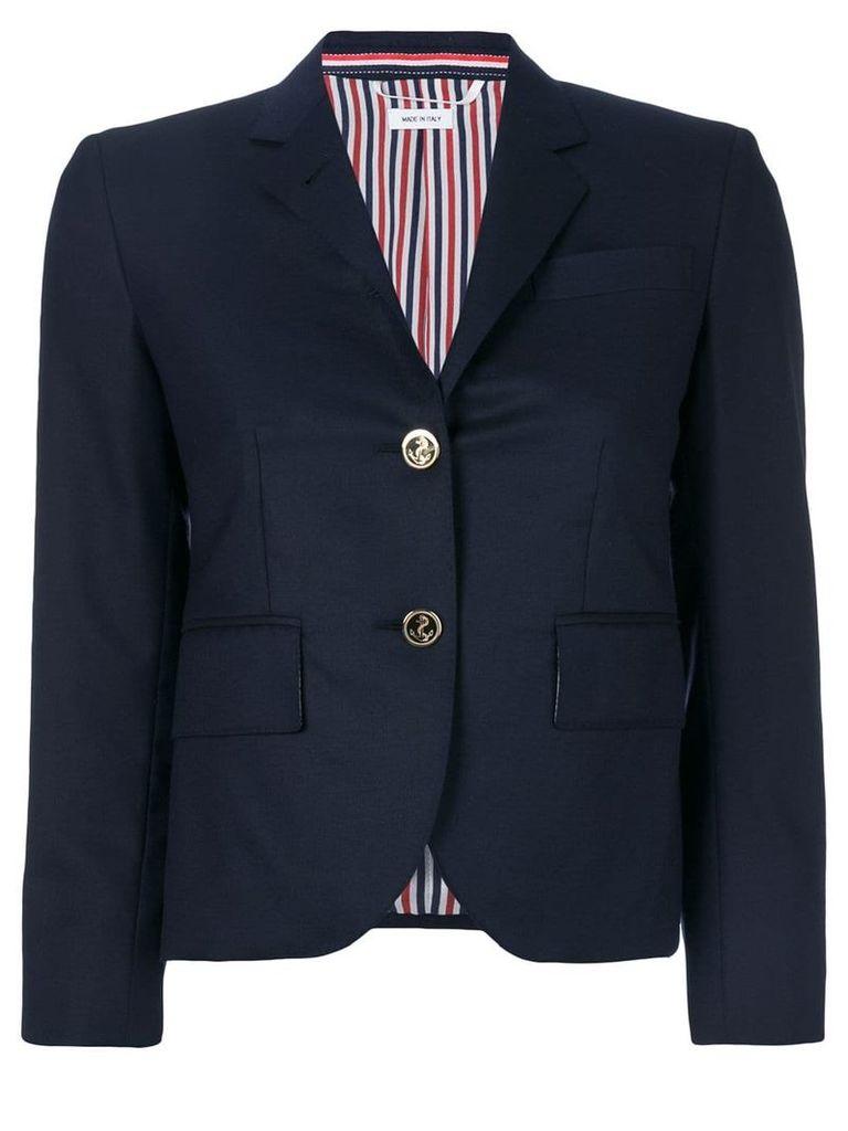 Thom Browne single breasted jacket - Blue