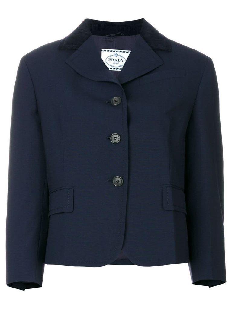 Prada elbow patch jacket - Blue