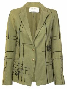 Nicole Miller blueprint embellished blazer - Green