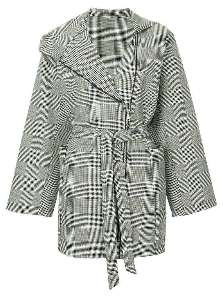 Strateas Carlucci Geo checked jacket - Grey