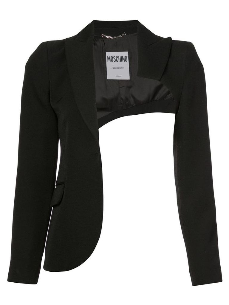 Moschino cut out fitted jacket - Black