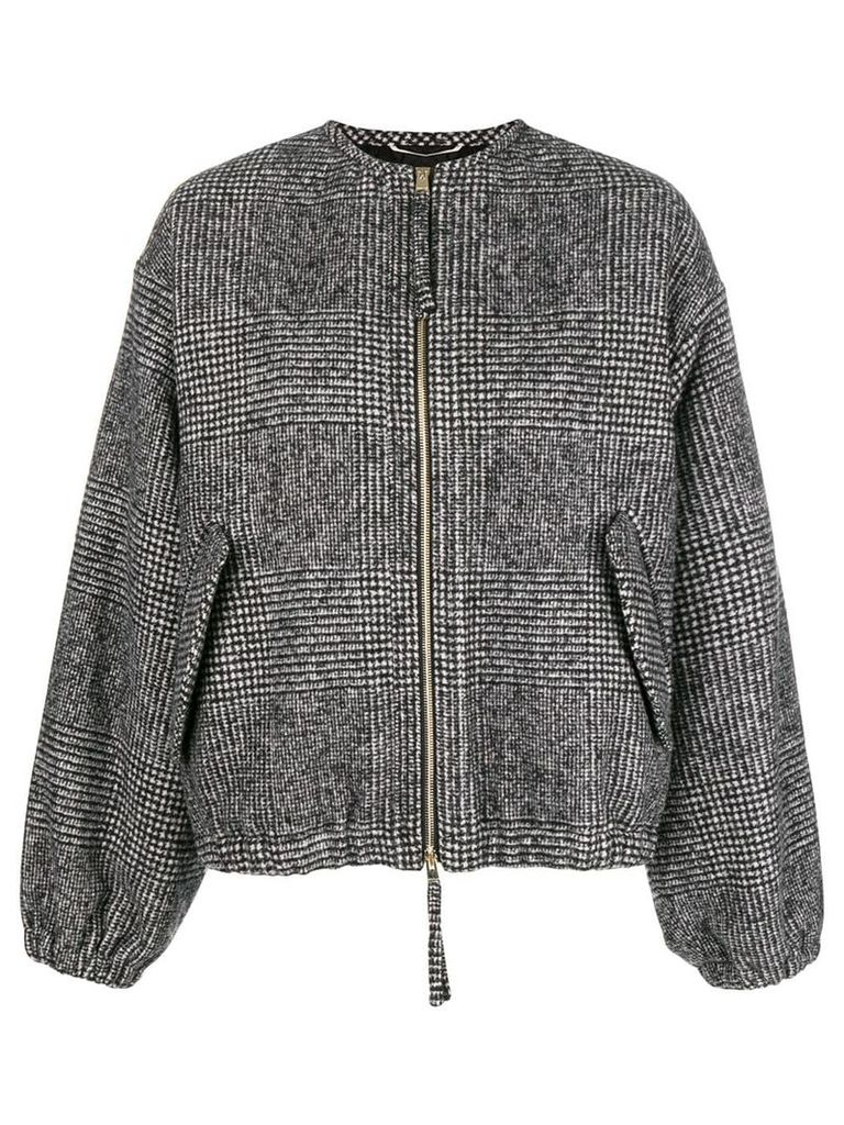 Rochas houndstooth bomber jacket - Black