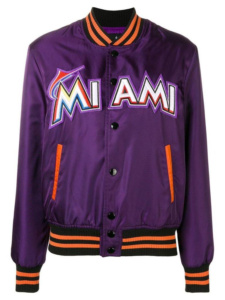 Marcelo Burlon County Of Milan Miami bomber jacket - Purple