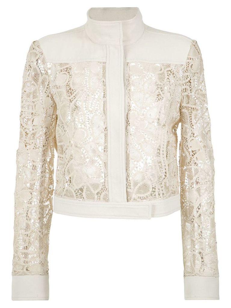 Martha Medeiros lace bomber jacket - White