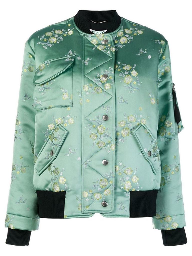 Kenzo floral bomber jacket - Green