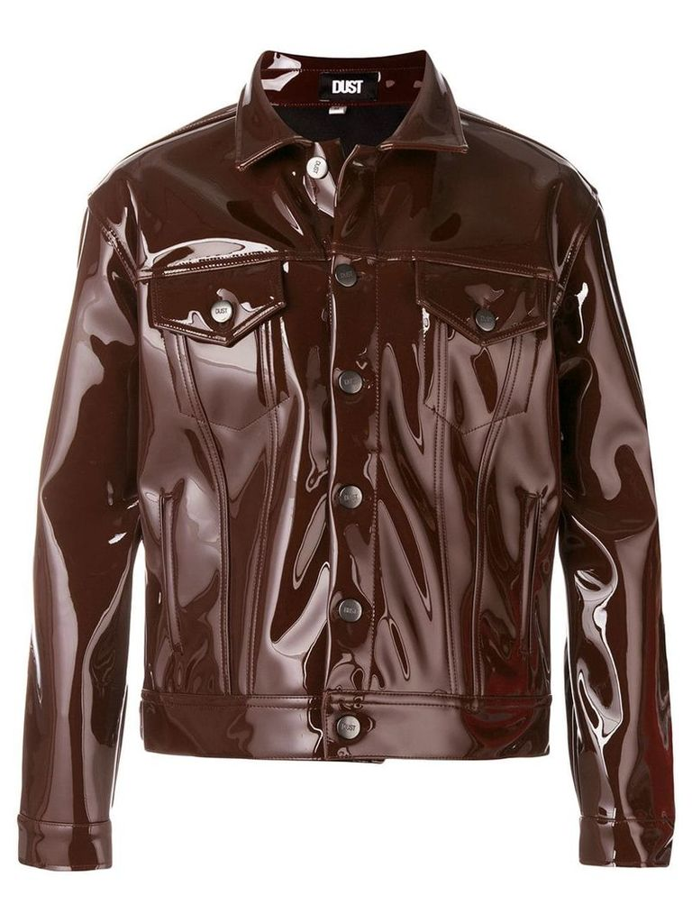 Dust high shine jacket - Brown
