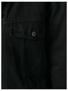Closed cropped denim jacket - Black
