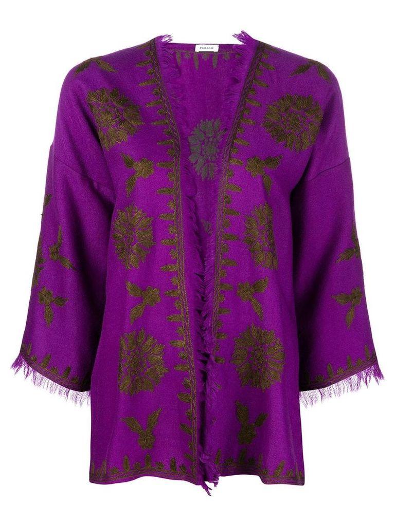 P.A.R.O.S.H. cropped sleeved jacket - Purple