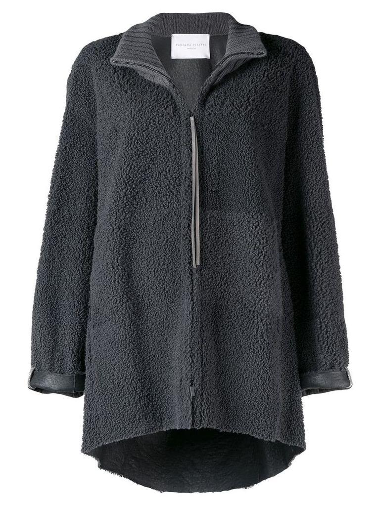 Fabiana Filippi oversized shearling jacket - Grey