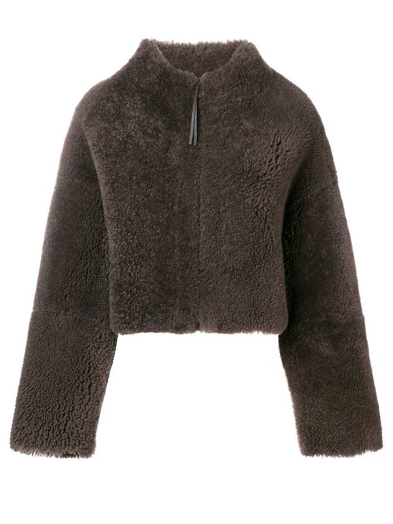 Fabiana Filippi cropped shearling jacket - Brown