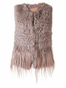 Drome fur vest - PINK