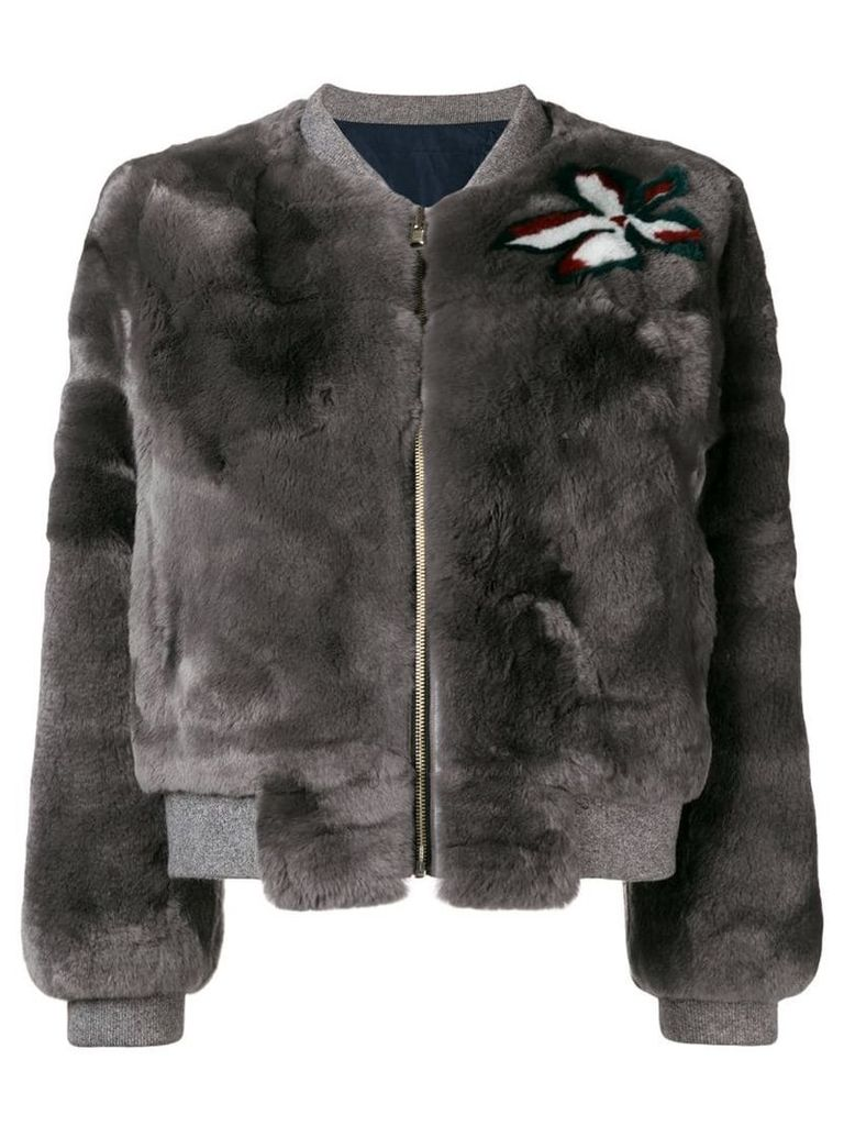 Liska fur bomber jacket - Grey
