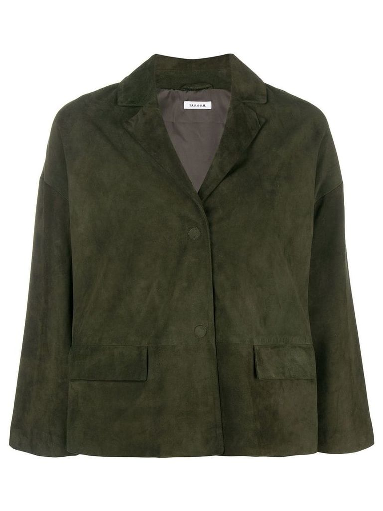 P.A.R.O.S.H. oversized cropped jacket - Green