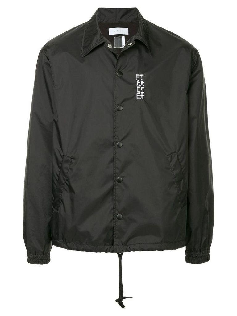 Facetasm embroidered casual jacket - Black