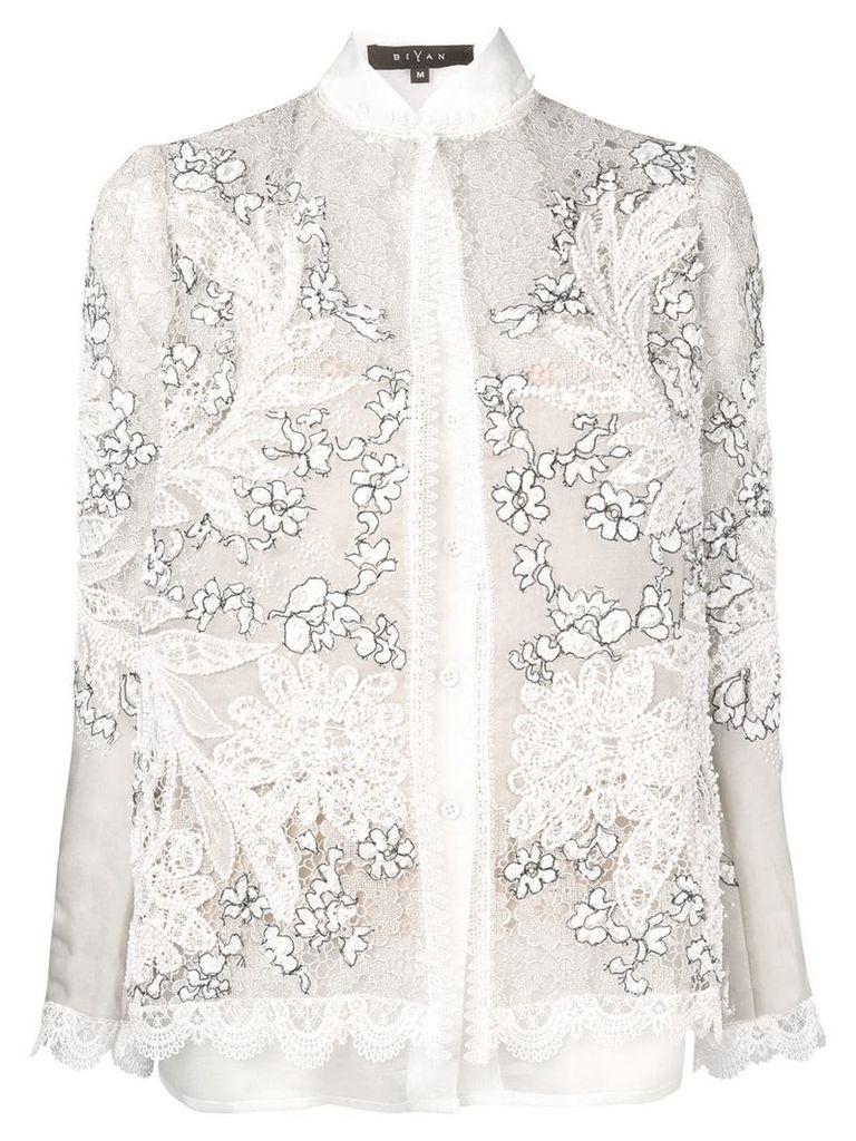 Biyan floral embroidered jacket - Nude & Neutrals