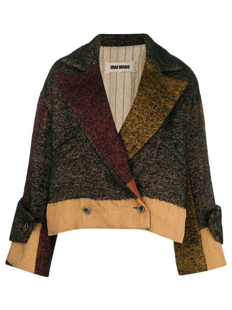 Uma Wang double breasted oversized jacket - Black