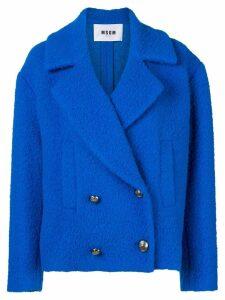 MSGM Bouclé oversized jacket - Blue