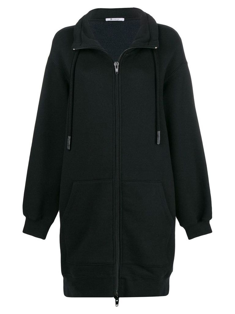 Alexander Wang mid-length bomber jacket - Black